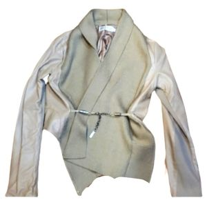 Monoreno leather faux with sweater trim